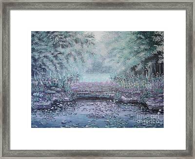 The Lily Pond Framed Print by Cynthia Sorensen