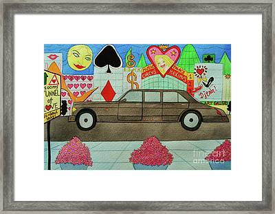 The Limo Of Sucess And Love Framed Print