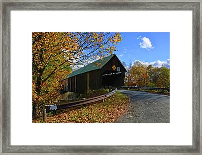 The Lincoln Covered Bridge Framed Print by Mike Martin