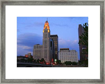 The Lincoln Leveque Tower Framed Print