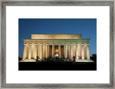 Framed Print featuring the photograph The Lincoln Memorial by Mark Dodd