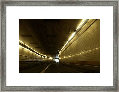 The Lincoln Tunnel In New York City Framed Print by Joel Sartore