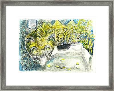 The Lindwurm Framed Print by Birgit Schlegel