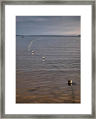Framed Print featuring the photograph The Line by Jouko Lehto