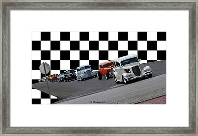 The Line-up Framed Print by Betty Northcutt