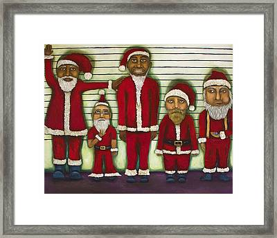 The Line Up Framed Print by Leah Saulnier The Painting Maniac