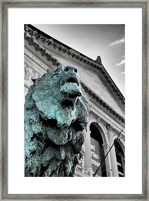 The Lion-arted Framed Print