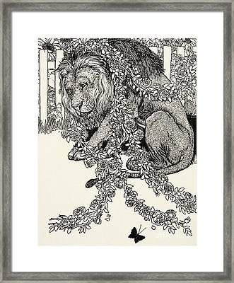 The Lion In Love, From A Hundred Fables Of Aesop Framed Print