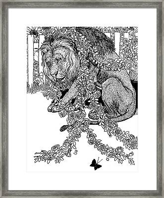 The Lion In Love Framed Print