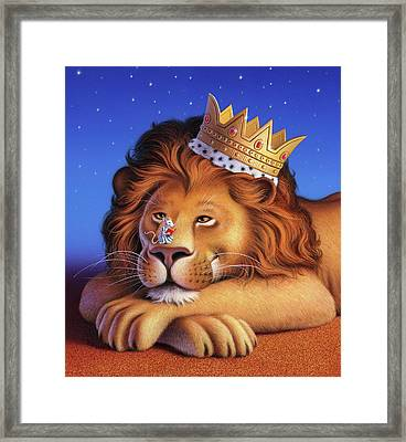 The Lion King Framed Print by Jerry LoFaro