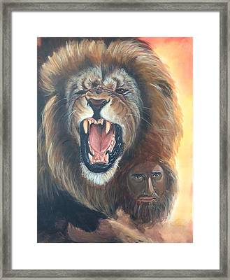 The Lion Of Judah Framed Print by Darlene Pyle