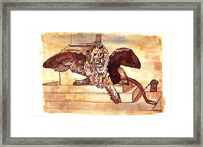 The Lion Of Venice Framed Print by Dan Earle