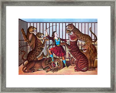 The Lion Queen Print, 1874 Framed Print
