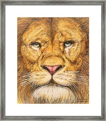 The Lion Roar Of Freedom Framed Print by Kent Chua