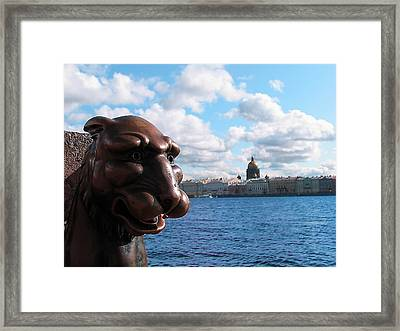 The Lion Which Remembers Much Framed Print by Yury Bashkin