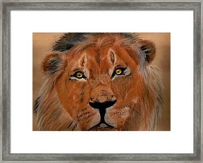 The Lion Within Framed Print by ShadowWalker RavenEyes Dibler