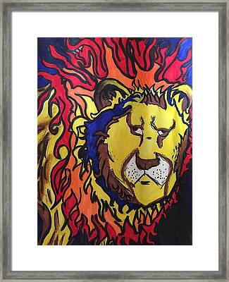 The Lions Mane. Framed Print by Luis Rivera