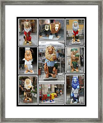 The Lions Of Munich Framed Print