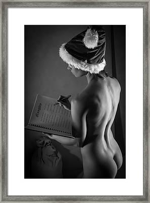 The List - Sexy Santa V Framed Print