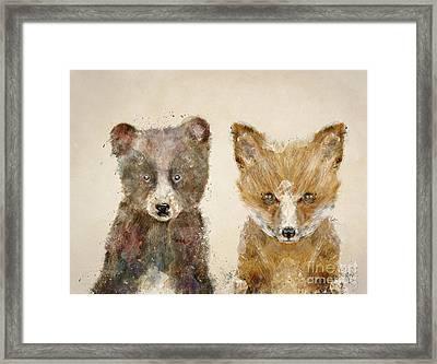 The Little Bear And Little Fox Framed Print by Bri B