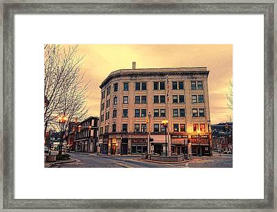 The Little Building Framed Print by Juanita L Ruffner