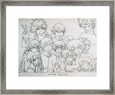The Little Busters Animation Series Framed Print by Darren Moore