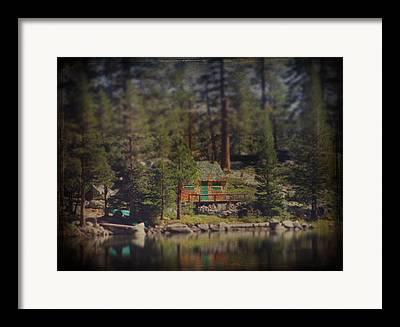 Cabin On A Lake Framed Prints