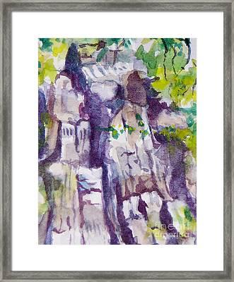 The Little Climbing Wall Framed Print by Jan Bennicoff
