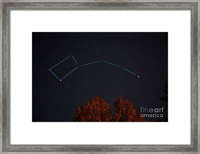 The Little Dipper Constellation Framed Print by Larry Landolfi