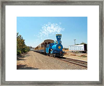 The Little Engine That Could Framed Print by Carl Deaville
