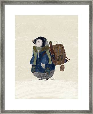 Framed Print featuring the painting The Little Explorer by Bri B