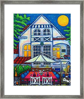 The Little Festive Danish House Framed Print by Lisa  Lorenz