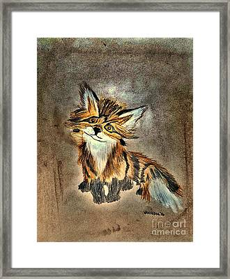 The Little Fox - Abstract Framed Print