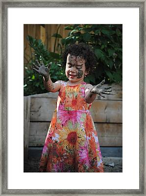 The Little Gardener Framed Print