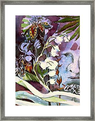 Framed Print featuring the painting The Little Gardener by Mindy Newman