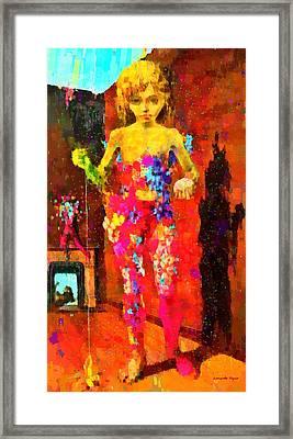 The Little Girl - Da Framed Print by Leonardo Digenio