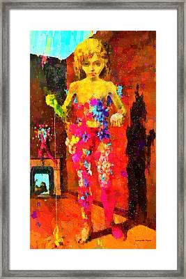 The Little Girl - Pa Framed Print by Leonardo Digenio