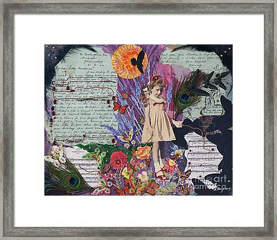 The Little Girl Wore Red Shoes Framed Print
