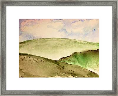 The Little Hills Rejoice Framed Print