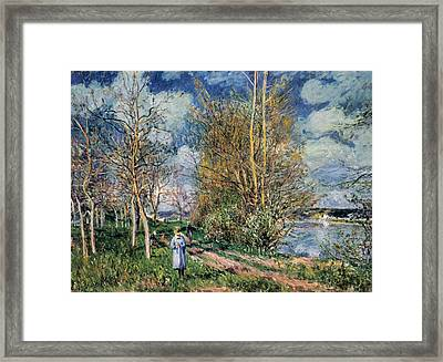 The Little Meadows In Spring Framed Print by Alfred Sisley