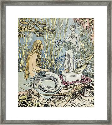 The Little Mermaid Framed Print by Ivan Jakovlevich Bilibin