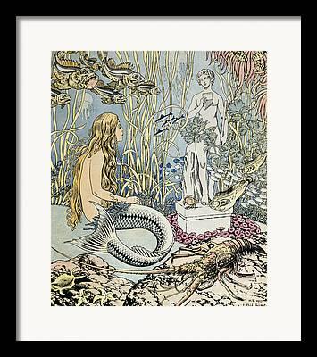 Atlantis Drawings Framed Prints