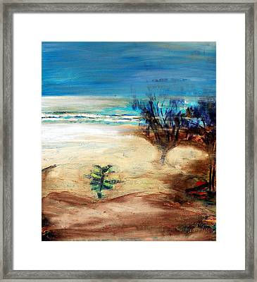 Framed Print featuring the painting The Little Pine Tree by Winsome Gunning