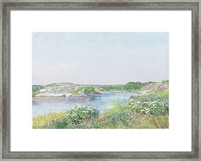 The Little Pond, Appledore Framed Print