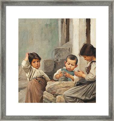 The Little Potters Framed Print