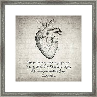 The Little Prince Quote Framed Print
