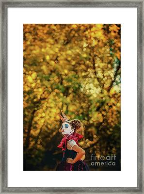 Framed Print featuring the photograph The Little Queen Of Hearts Alice In Wonderland by Dimitar Hristov
