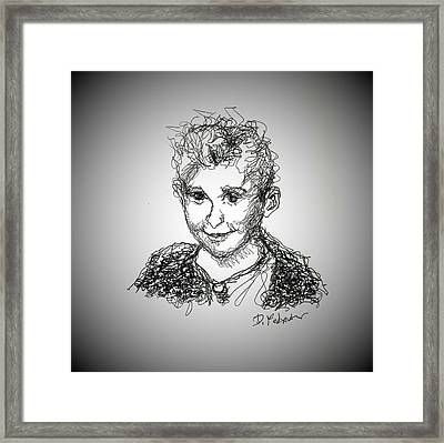 Framed Print featuring the drawing The Little Rapper by Denise Fulmer