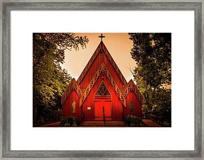 The Little Red Church Framed Print by Art Spectrum