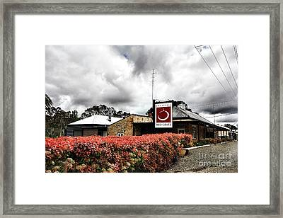 Framed Print featuring the photograph The Little Red Grape Winery   by Douglas Barnard
